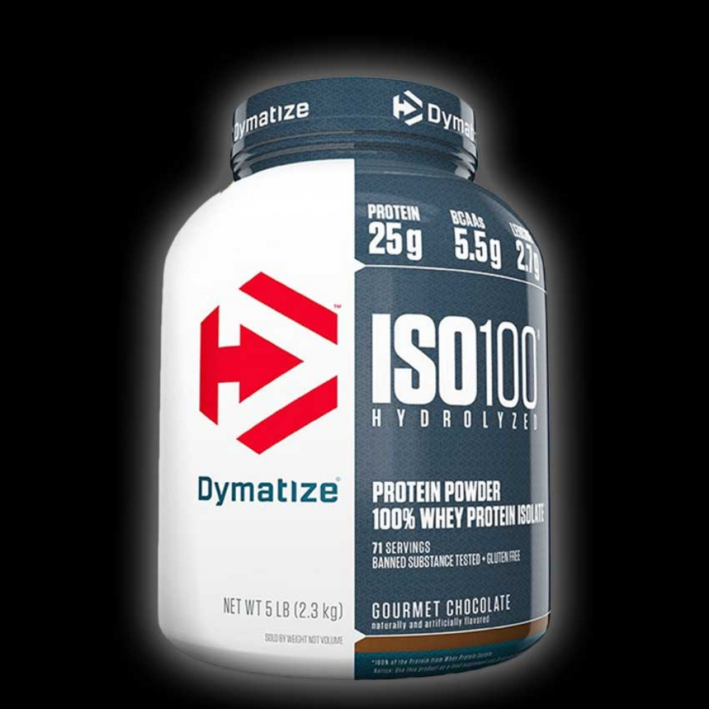 Dymatize Nutrition ISO 100 Whey Protein Isolate - 5 LBS Gourmet Chocolate