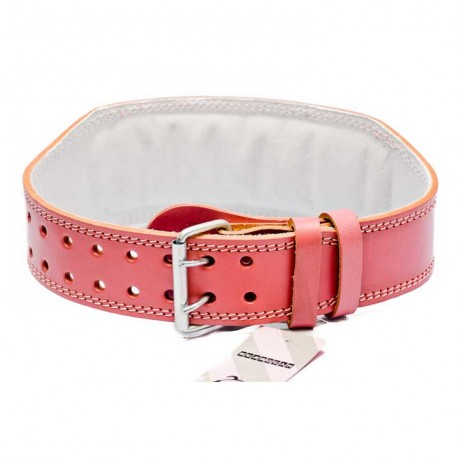 Bear Gear 4″ Weightlifting Belt (Real Leather – Pink)
