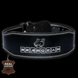 Bear Gear 4″ Weightlifting Belt (Real Leather – black base)